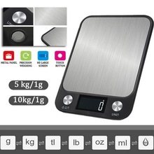 5/10kg/1g mult-function Digital Food Scale LCD Display Kitchen Scale Stainless Steel Weighing Food Scale Cooking Tools Balance 10000g x 1g digital mini food diet kitchen scale balance weight scale led electronic cooking scale measure tools