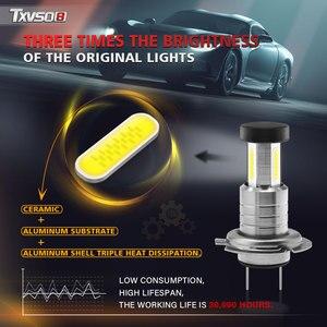 Image 4 - TXVSO8 2020 Led H7 Headlight 6000K White Light Lamp Universal COB Mini Car Bulbs 110W/set 26000LM Focos Led Automovil