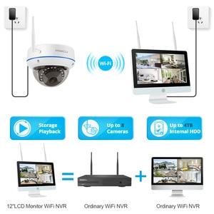 Image 4 - MISECU תקע ולשחק 8CH אלחוטי NVR ערכת 12 אינץ LCD NVR 1080P HD Vandalproof אבטחת IP מצלמה ראיית לילה WIFI טלוויזיה במעגל סגור מערכת
