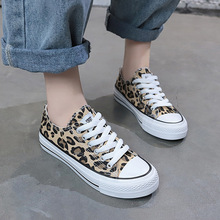 Harajuku Leopard Low-cut Canvas Shoes Women Fashion Sneakers New Classics Vulcanize Skateboarding Ladies Flats Casual Loafers