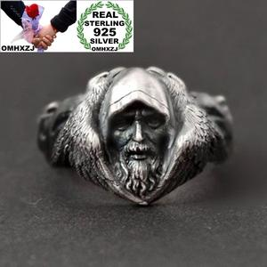 OMHXZJ 925-Sterling-Silver Ring Jewelry Warrior Vikings Wedding-Gift Birthday European