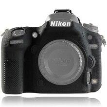 لنيكون D750 غطاء غلاف حماية سيليكون للكاميرا نيكون D750 كاميرا حامي غطاء عالية الجودة الليتشي الملمس عدم الانزلاق