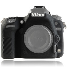 Para nikon d750 capa caso da câmera de silicone para nikon d750 câmera protetor capa de alta qualidade litchi textura antiderrapante