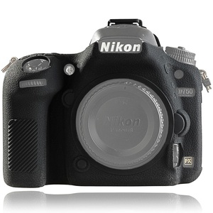 Image 1 - for Nikon D750 Cover Silicone Camera Case for Nikon D750 Camera Protector Cover High Grade Litchi Texture Non slip