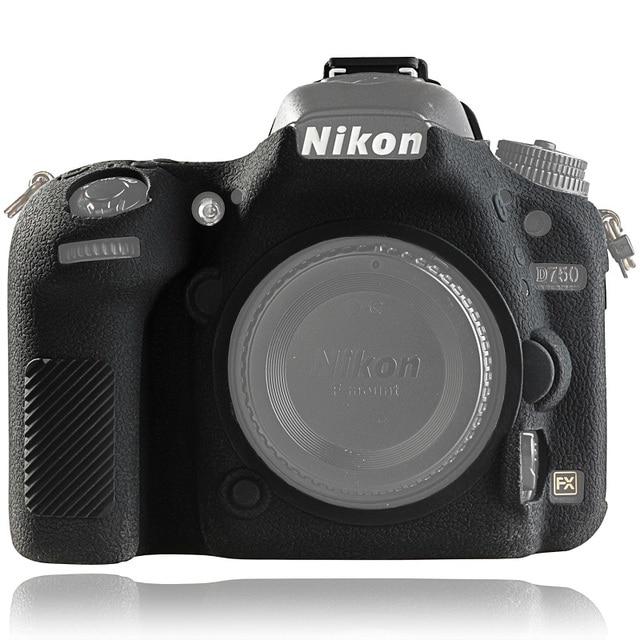 for Nikon D750 Cover Silicone Camera Case for Nikon D750 Camera Protector Cover High Grade Litchi Texture Non slip