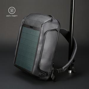 Kingsons Backpack Shoulder-Bags Charging-Efficiency Solar-Panel Travel Men's Security