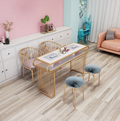 Manicure Table Marble Double Manicure Table Table And Chair Ironwork North Europe Ins Net Red Manicure Shop Table And Chair Set