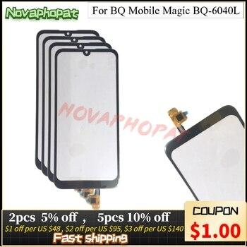 Перейти на Алиэкспресс и купить Novaphopat оригинальный черный сенсор для BQ Mobile Magic BQ-6040L 6040L сенсорный экран дигитайзер сенсорная стеклянная линза Панель + трек