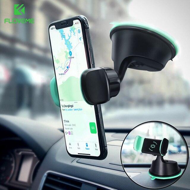 FLOVEME soporte para teléfono móvil Universal para Samsung S9 S8 One Touch Smartphone navegación coche para iPhone X soporte estilo soporte movil auto soporte movil coche anillo movil sujeta movil soporte movil mesa