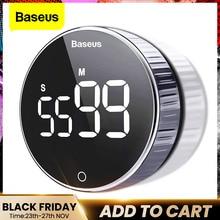 Baseus LED Timer da cucina digitale per cucinare la doccia studio cronometro sveglia Timer elettronico magnetico per il conto alla rovescia