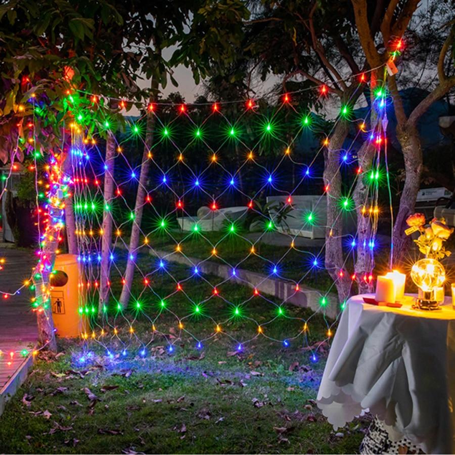 2x2M 3x2M 6x4M Led Net Mesh String Light Garland Window Curtain Christmas Fairy Light Holiday Wedding Party Decoration Lights