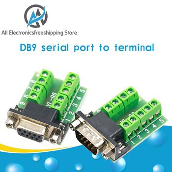 DB9 mężczyzna Adapter żeński sygnałowe moduł terminala RS232 szeregowy do terminalu DB9 złącze tanie i dobre opinie CN (pochodzenie) NONE DB9 Male Female Adapter Signals Terminal Module RS232 Serial To Termin 26 4*15mm