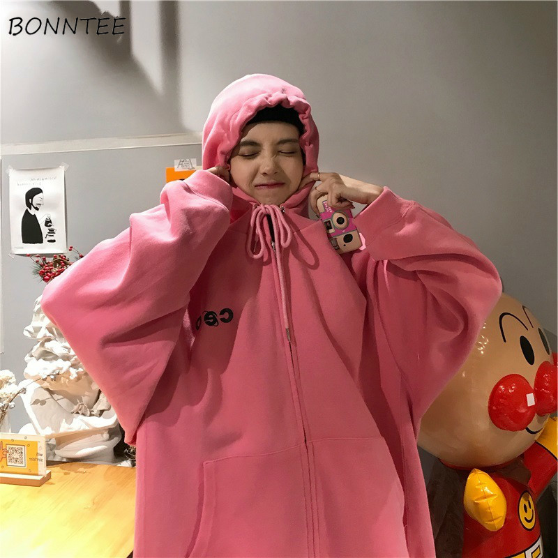 Hoodies Women Korean Style Chic Printed Streetwear Ulzzang Soft Loose Plus Size Womens Sweatshirt Harajuku Hoodie Boyfriend New
