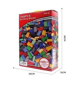 Image 2 - مجموعة مكعبات بناء كلاسيكية من eويلبيعت عدد 500/1000 قطعة من ألعاب التركيب الفني للمدينة