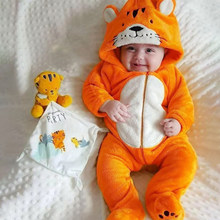 Детский комбинезон для новорожденных, зимняя одежда унисекс для мальчиков и девочек 3, 9, 12 месяцев, 2019