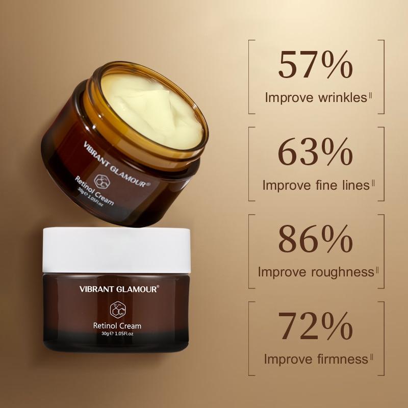 VIBRANT GLAMOUR Retinol Face Cream Firming Lifting Anti-Aging Remove Wrinkle Whitening Brightening Moisturizing Facial Skin Care