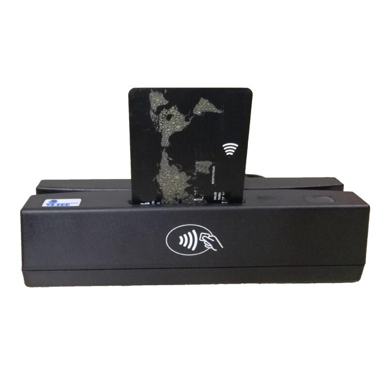 YL160 4-en-1 lecteur de carte Multi bande magnétique carte de crédit EMV IC puce RFID PSAM lecteur écrivain mémoire multi-fonction lecteur de carte - 2