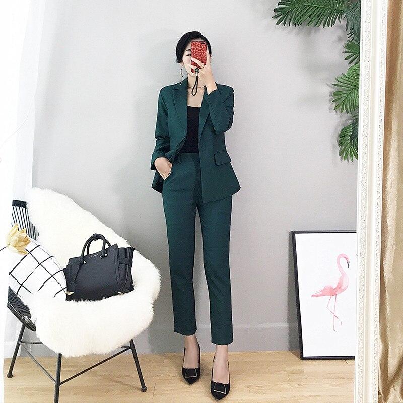 Women's Suit Fashion Women's Suit Two-piece Suit (jacket + Pants) Custom Women's Business Formal Business Wear