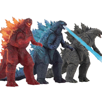 NECA Gojira 2019 ATOMIC BLAST Fire burning Gojira Articulated King of monsters PVC Action Figure Collectible Model dolls Toys 7 inch neca predator 2 action figure ultimate series elder predator predator movie toys action figures pvc model dolls gift