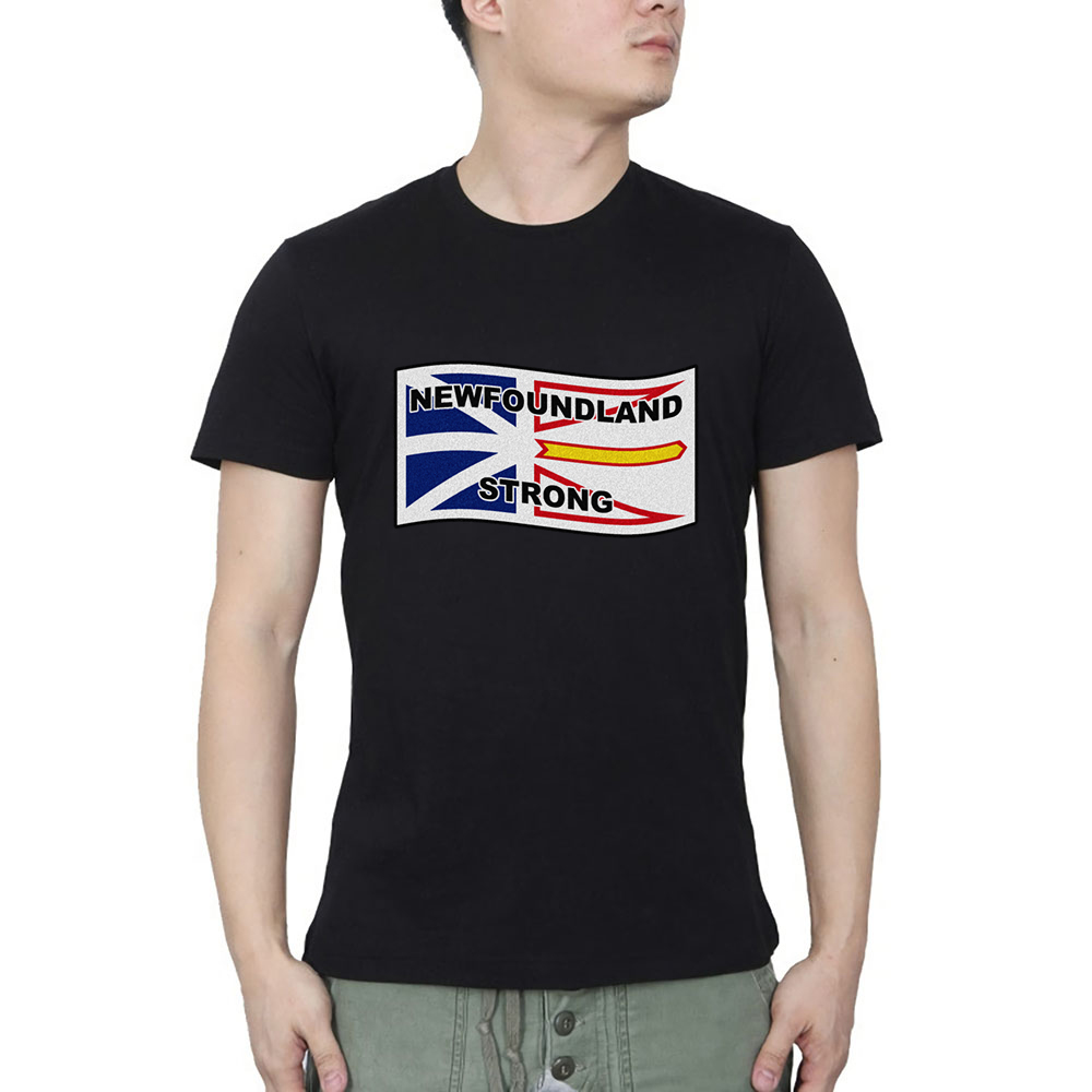 Terre-neuve forte vague impression mode hommes hauts hommes cool t-shirt hommes hommes t-shirts