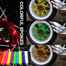72pcs Motorcycle accessories cover rim spoke wheel Wraps Pipe For Triumph Kawasaki Model Hyosung Parts Bmw F650Gs Ducati(China)