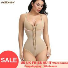 HEXIN женское нижнее белье для похудения, боди, Корректирующее белье, Корректирующее белье, Послеродовое восстановление, корсет для похудения на молнии и крючке