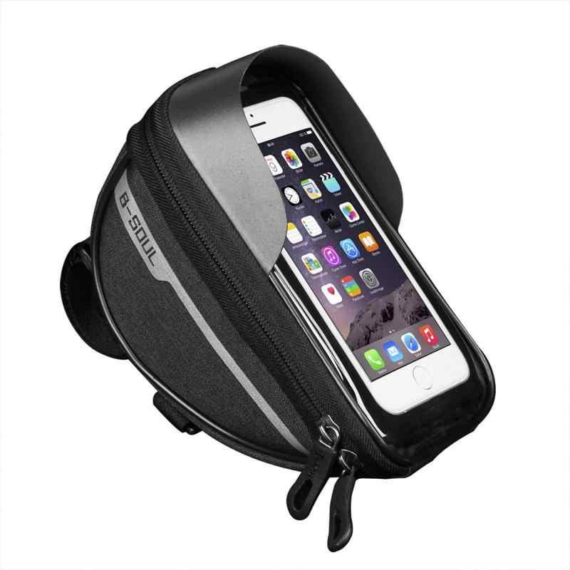 B-soul-bolsa para bicicleta de montaña, portátil, resistente al agua, para manillar de bicicleta, soporte para funda de teléfono, accesorios para bicicleta, oferta 2020