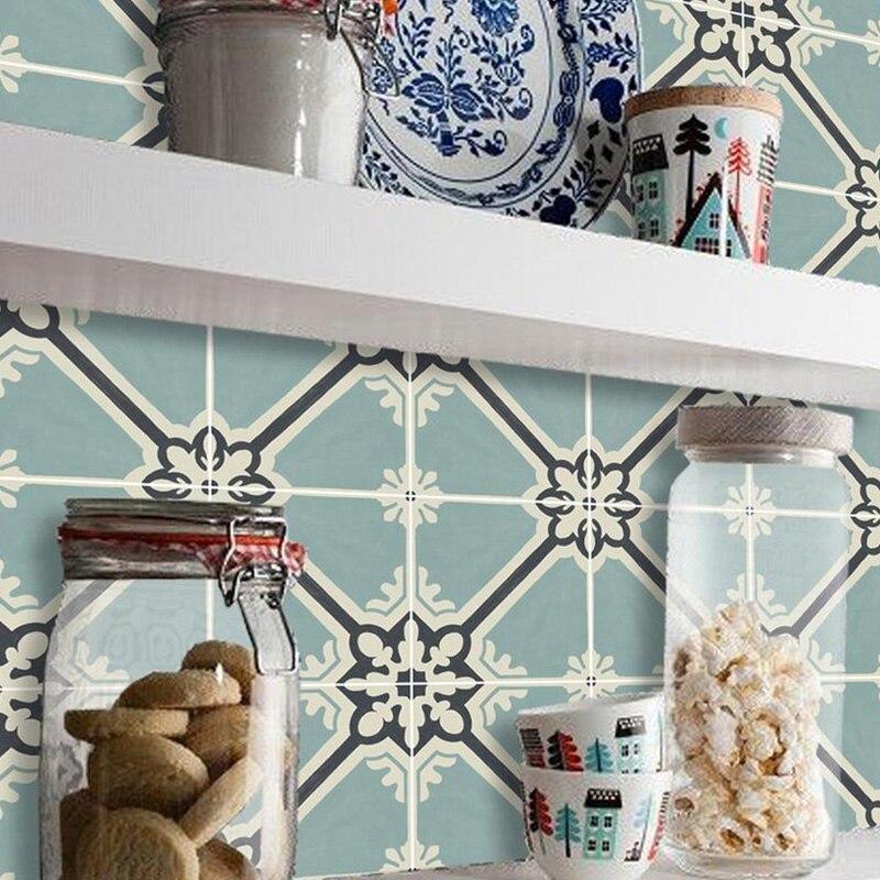 Ретро стикер на стену, мозаика, ПВХ плитка, наклейка, водостойкая задняя часть, сделай сам, наклейки на стену для кухни, ванной комнаты, наклейки на стену 20/30 см Наклейки на стену      АлиЭкспресс