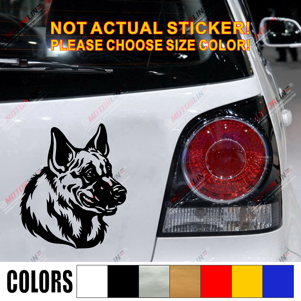 German Shepherd Dog K9 Car Decal Sticker Vinyl pick size color no background