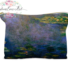 Claude Monet cosmetic bag personalized small makeup