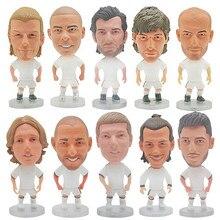Real fãs madrid clube futebol estrela jogador futebol 6.5cm altura ronaldo pvc bonecas brinquedo figura de ação