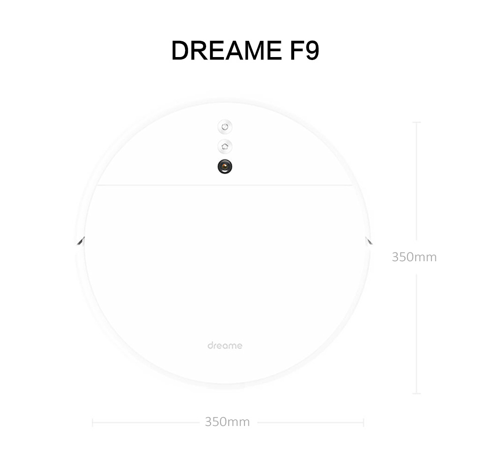 Dreame F9 Smart Robot Vacuum Cleaner 2500Pa Suction Vision Navigation Wet Dry Mop Quiet Sweeping 150-min Auto-cleaning