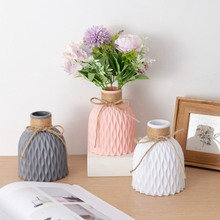 Ornament Flower-Vase Origami Home-Decoration Living-Room Plastic Nordic-Style Hot-Sale