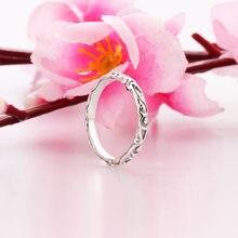 Novo 2019 moda prata cor rosa real anel de banda para casamento feminino anéis de noivado dropshipping