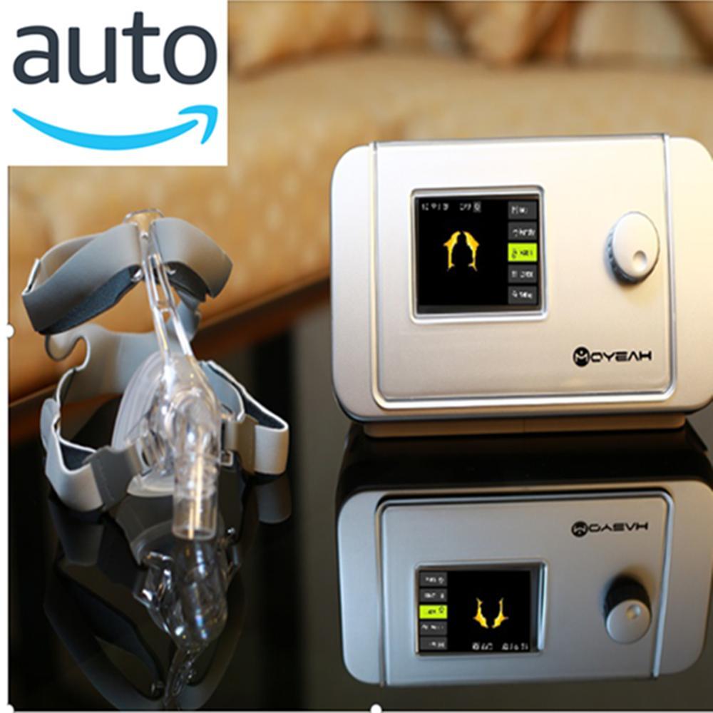 MOYEAH Auto maszyna cpap APAP respirator medyczny z maska nosowa rurka do oddychania wkładka 4GB karta SD do bezdechu sennego przeciw chrapaniu