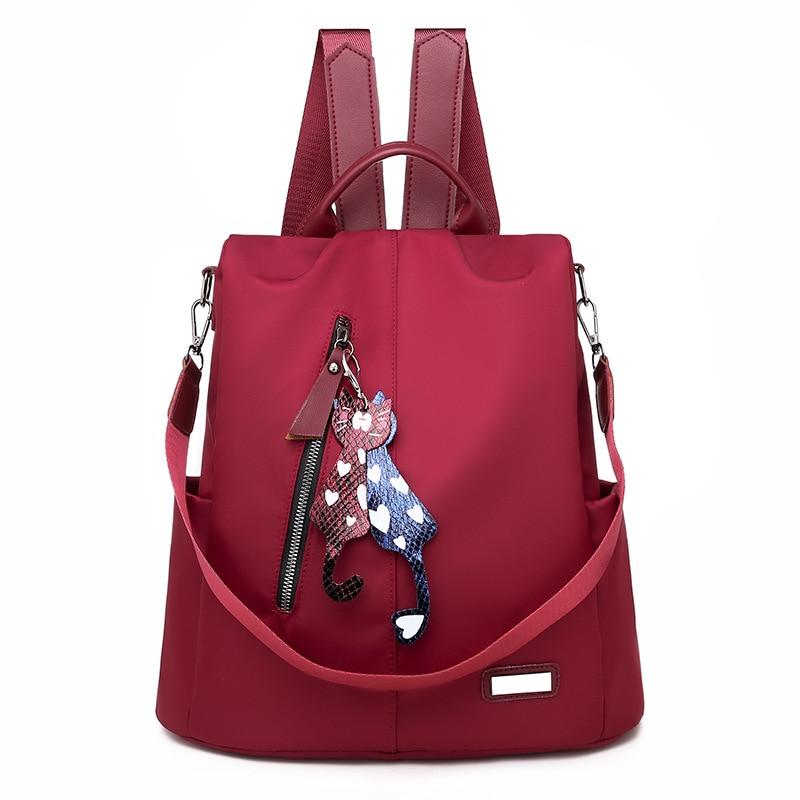 New Waterproof Backpack Women Fashion Large Bag For Female Teenager Girls School Bag Rucksack Solid Backpacks Mochila