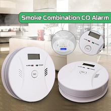 2 in 1 Combination Smoke and Carbon Monoxide Detector with LCD Display Battery Operated CO Alarm 1PCS