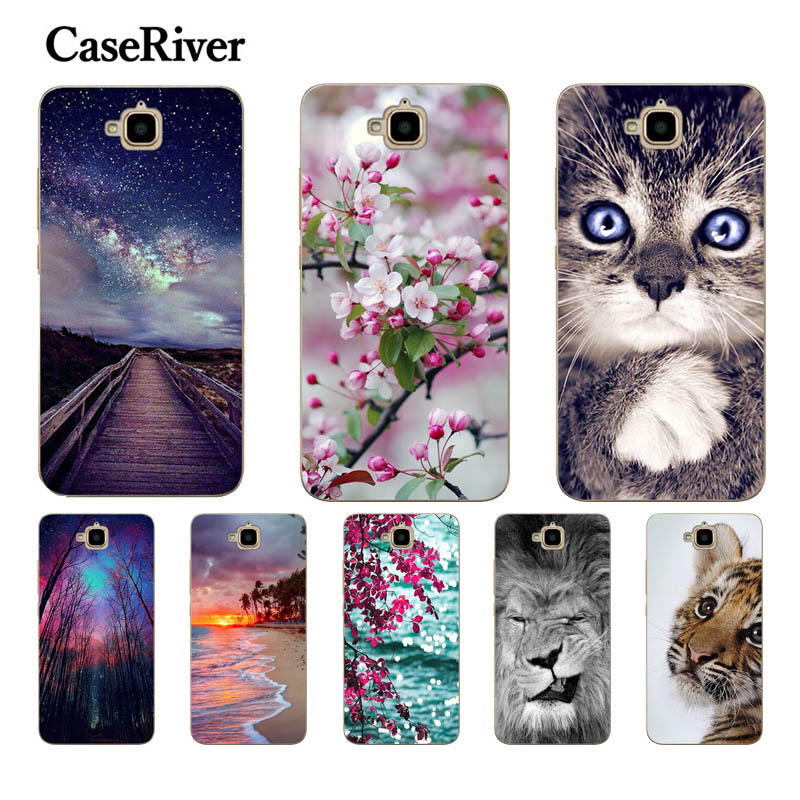 CaseRiver For Huawei Honor 4C Pro Case Cover რბილი სილიკონი Honor 4C Pro Case Cover For Huawei Y6 Pro Case TIT-L01 TIT-TL00