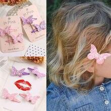 Новинка года; милая детская заколка для волос для маленьких девочек; блестящий бант с пайетками; заколка для волос с бантом