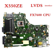 X550ZE FX7600 CPU interfaccia LVDS intel PM mainboard Per ASUS X550ZA X550Z VM590Z K550Z X555Z scheda madre Del Computer Portatile 90NB06Y0-R00050Tested