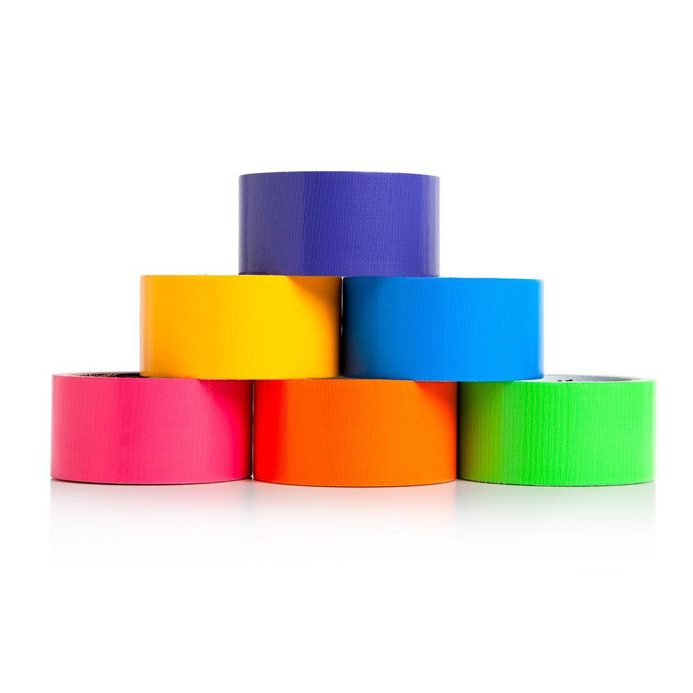 6 Rolls Colored Rainbow Washi Tapes Set DIY Masking Decorative Sticker Kids Toys Adult Game Paste Memorandum Game Label
