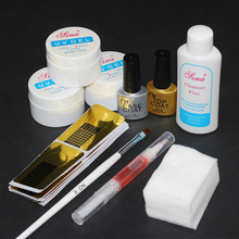 UV Gel Set Top Coat Pink White Clear Transparent 3 Color UV Gel Builder Glass Cup Nail Art Tips Gel Nail Manicure Extension