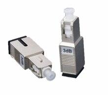 SC/UPC męski na żeński tryb Simplex tłumik światłowodowy metalowy męski tłumik światłowodowy Adapter tłumika FTTH