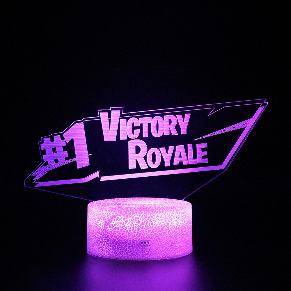 #1 Battle Victory Royale Lamp Remote Control 3d Lamps Sleep Table Light Party Decoration Nightlight Touch Sensitive Light USB