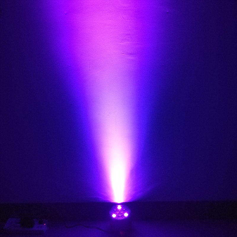 Wireless Remote Control RGBW 12x3W UV Disco Wash Flat Light Equipment 8 Channels DMX 512 LED Uplight Stage Lighting Effect Light 6