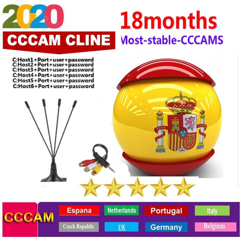 HD 1 Year CCCAM 6 / 7 Lines Cline Server Account For Satellite Receiver Spain UK Germany French Italy POLSAT MOVISTAR ES Spain