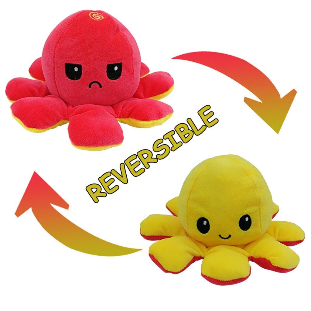 Новинка, кукла Octopu, двусторонний флип, осьминог, плюшевая игрушка, детский подарок на день рождения, мягкая для кожи, двусторонняя игрушка дл...
