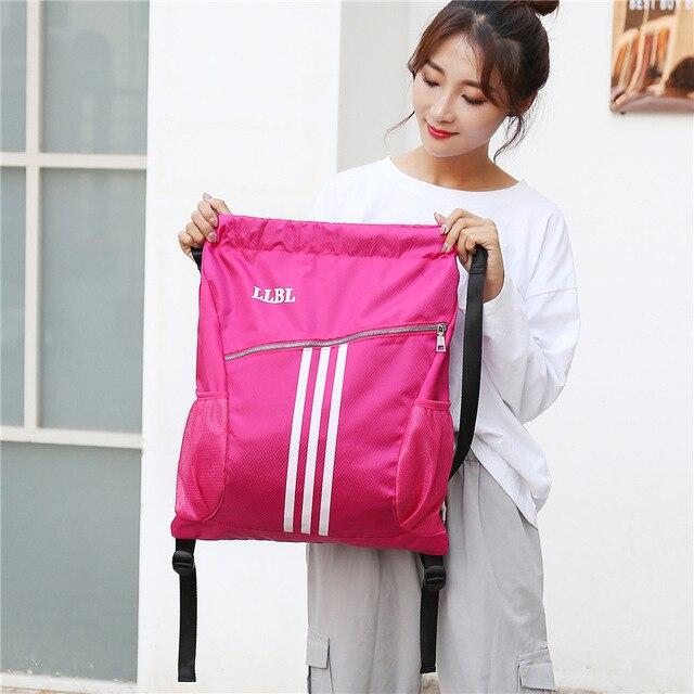 Спортивные сумки для занятий спортом на открытом воздухе, баскетбольный рюкзак для спортивных сумок, женская сумка для занятий фитнесом и йогой, спортивная сумка на шнурке-2