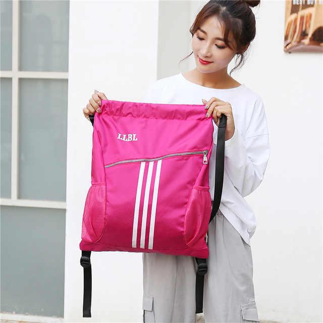 Outdoor Sports Gym Taschen Basketball Rucksack Für Sport Taschen Frauen Fitness Yoga Tasche Kordelzug Sporttasche