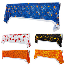 Halloween-Decoration Tablecloths Scary-Accessory Horror Blood-Handprint Multicolor Fashion